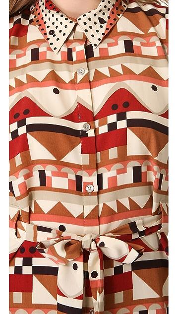 Viva Vena! by Vena Cava Quickstop Shirtdress with Cutout Back