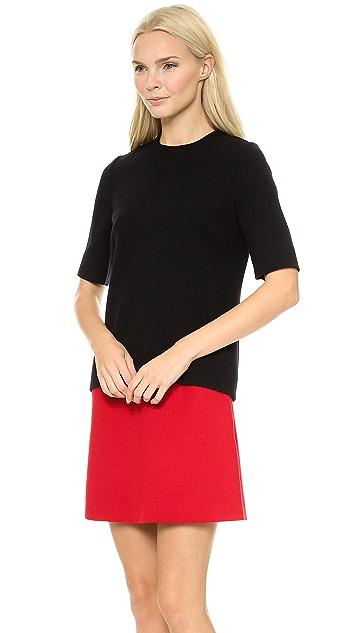 Victoria Victoria Beckham Tux Stripe Combo Mini Dress