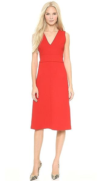 Victoria Victoria Beckham Deep V Midi Dress
