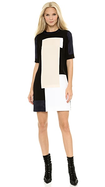 Victoria Victoria Beckham Color Patch Mini Dress