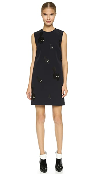 Victoria Victoria Beckham Embroidered Shift Dress