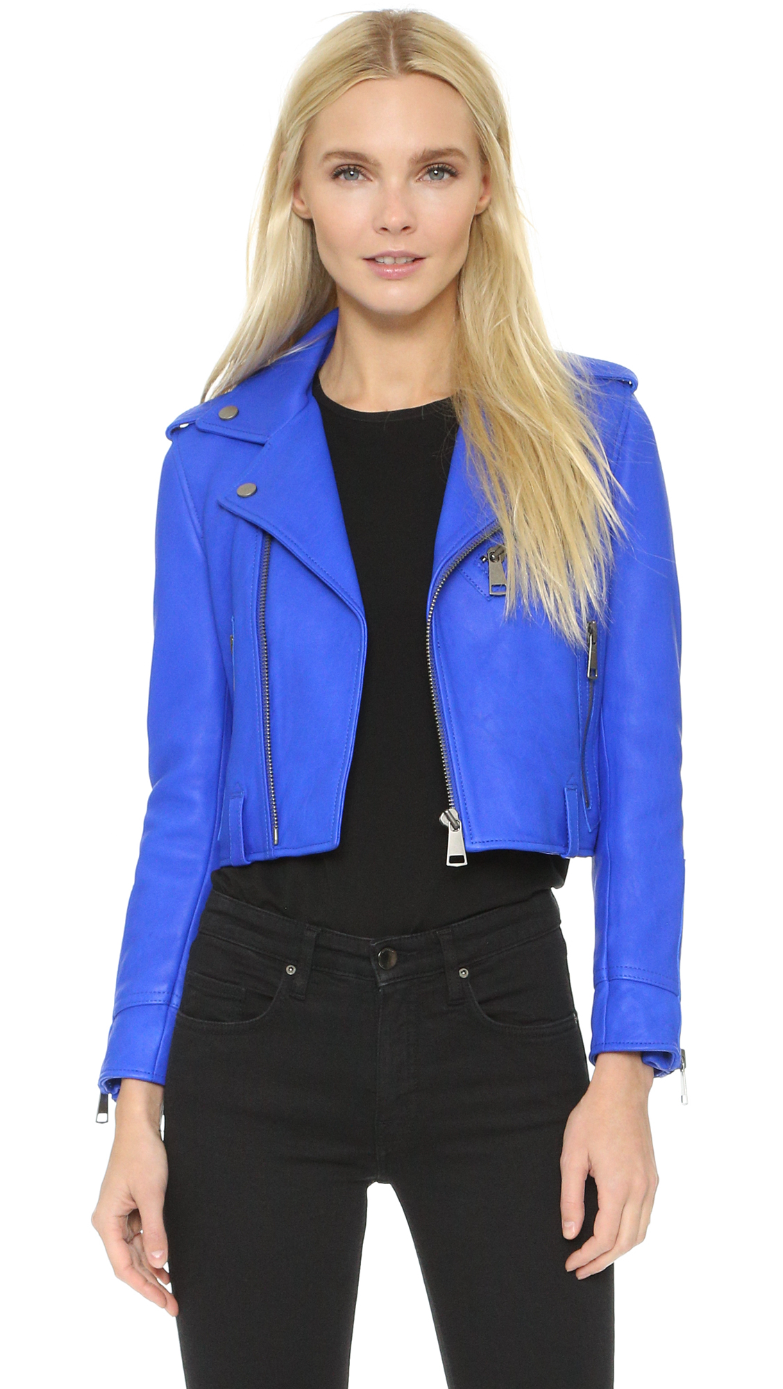 Leather jacket victoria - Victoria Victoria Beckham Classic Biker Jacket 15 Off First App Purchase With Code 15foryou
