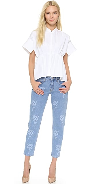 Victoria Victoria Beckham Printed Tapered Jeans