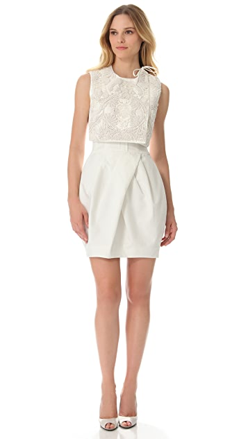 Vera Wang Collection Sleeveless Corseted Dress