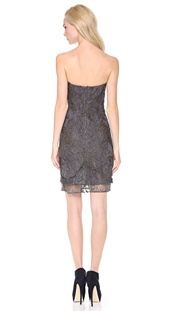 Vera Wang Collection Strapless Lace Dress