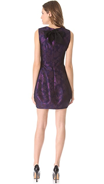 Vera Wang Collection Sleeveless Dress with Bow Detail