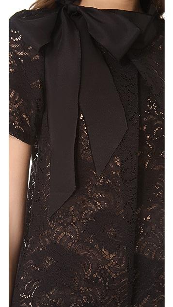 Vera Wang Collection Bow Collar Top