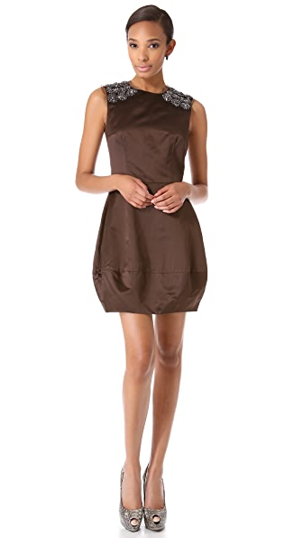 Vera Wang Collection Satin Sleeveless Dress