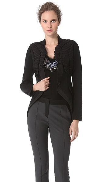 Vera Wang Collection Faille Harness Blazer