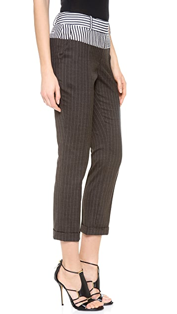 Vera Wang Collection Cuffed Trousers