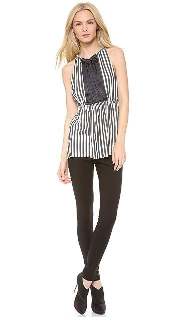 Vera Wang Collection Tuxedo Stripe Trousers