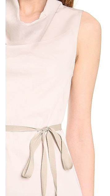 Vera Wang Collection Colorblock Cowl Neck Dress