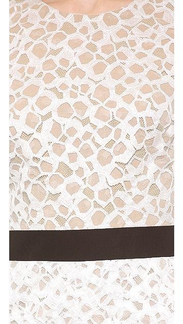 Vera Wang Collection Lace Sheath Dress