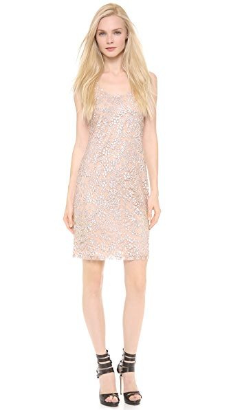 Vera Wang Collection Sequin Shift Dress
