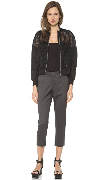 Vera Wang Collection Waffle Net Baseball Jacket