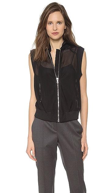 Vera Wang Collection Zip Up Baseball Vest