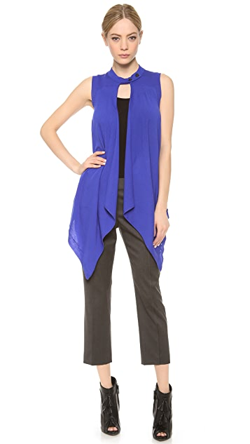 Vera Wang Collection Button Collar Vest