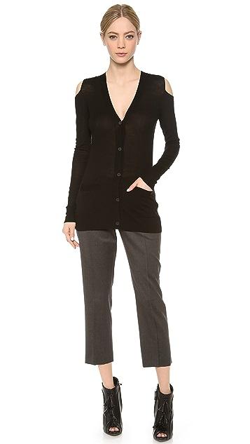 Vera Wang Collection Cutout Shoulder Cardigan