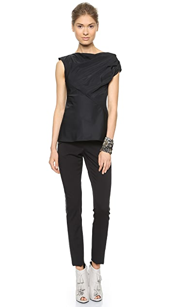 Vera Wang Collection Twisted Shoulder Top