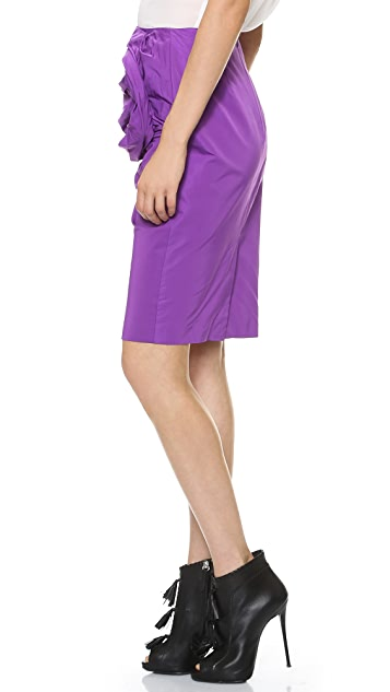 Vera Wang Collection Pencil Skirt with Obi Detail