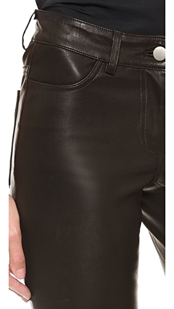 Vera Wang Collection Stretch Leather Bermuda Shorts