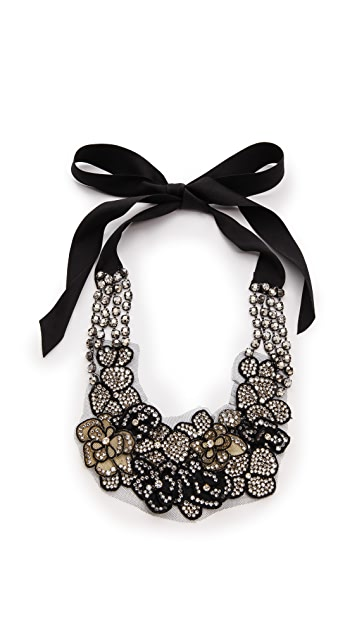 Vera Wang Collection Applique Tie Necklace