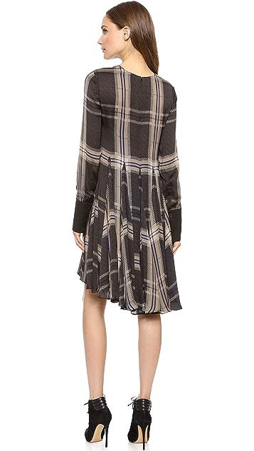 Vera Wang Collection Godet Trapeze Dress