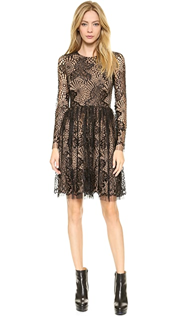 Vera Wang Collection Web Lace Dress