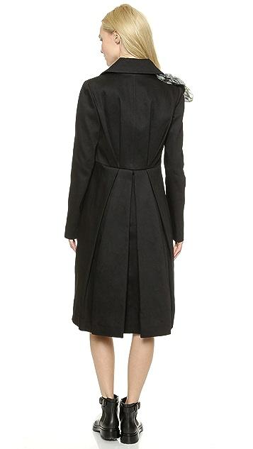 Vera Wang Collection Long Sleeve Cutaway Coat