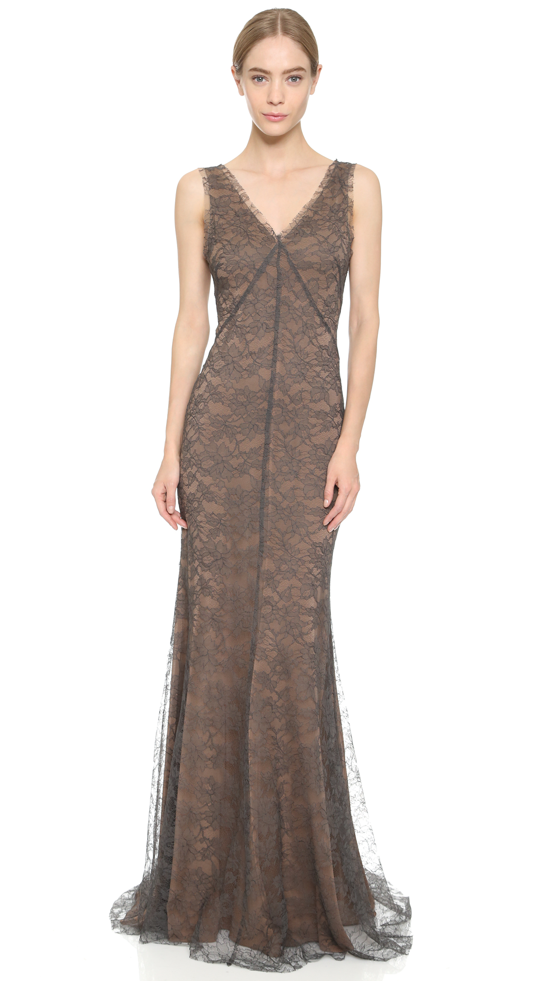 Vera Wang Collection Lace Gown Shopbop