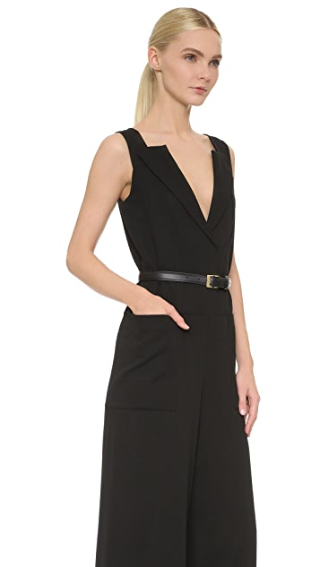 Vera Wang Collection Wide Leg Belted Jumpsuit