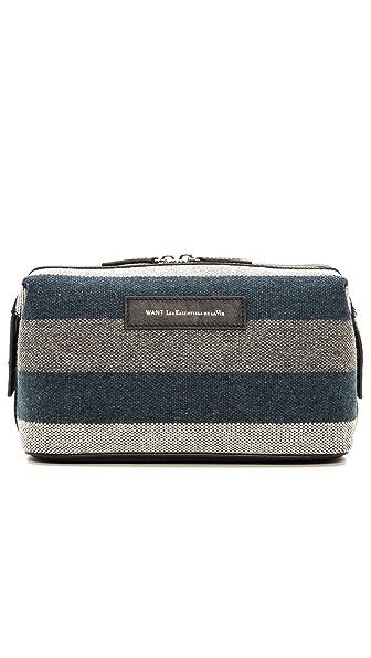 WANT Les Essentiels de la Vie Blanket Stripe Travel Kit