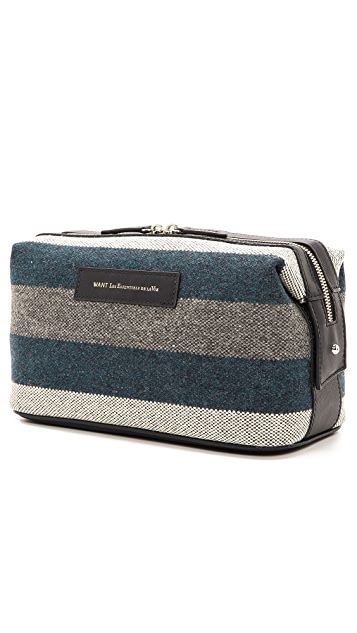 WANT LES ESSENTIELS Blanket Stripe Travel Kit