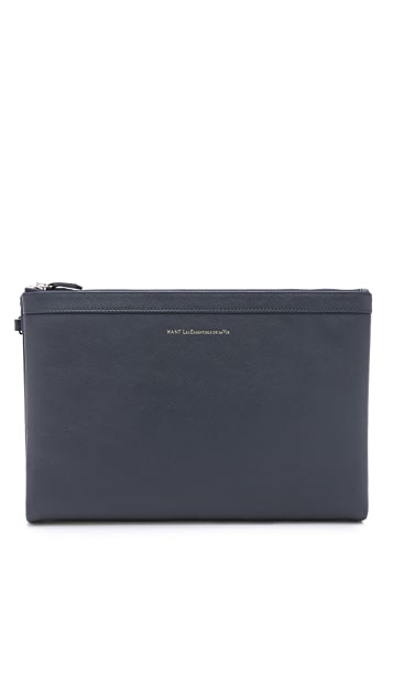 WANT LES ESSENTIELS Barajas A4 Double Zip Folio