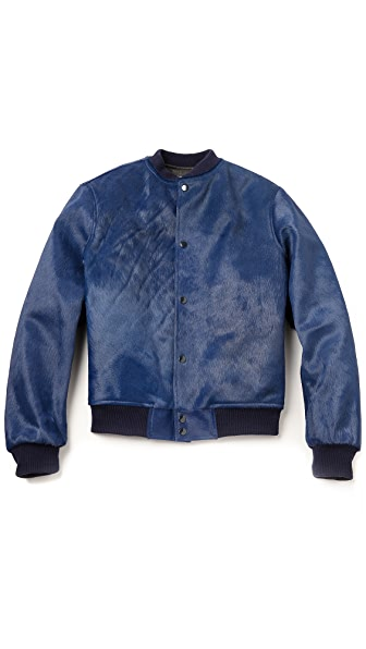 Anzevino Getty Haircalf Bomber Jacket