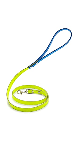 Ware of the Dog Two Tone Small Leather Dog Leash