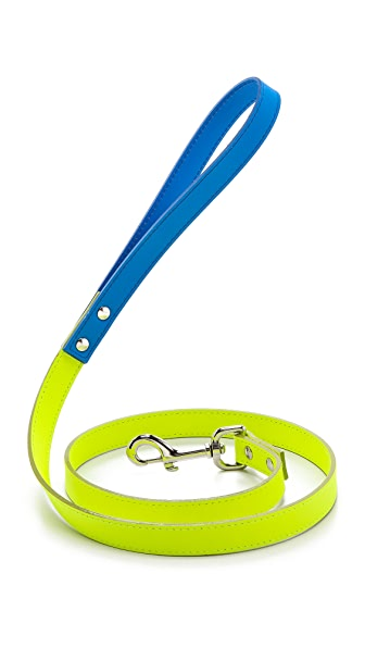 Ware of the Dog Two Tone Medium Leather Dog Leash
