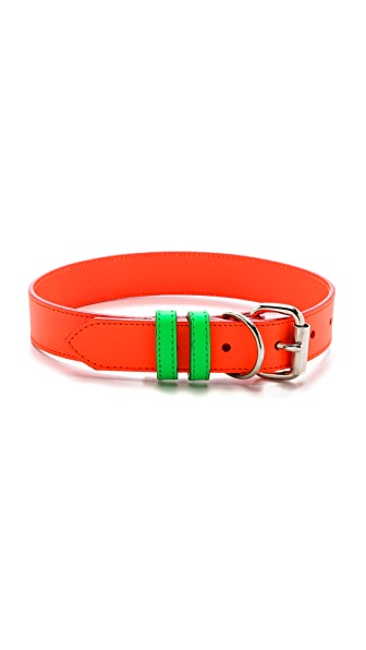 Ware of the Dog Large Dog Two Tone Leather Collar