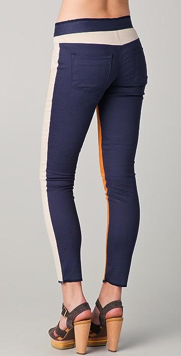 Washborn Colorblock Skinny Pants