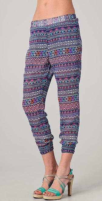 Washborn Chiffon Geometric Print Pants
