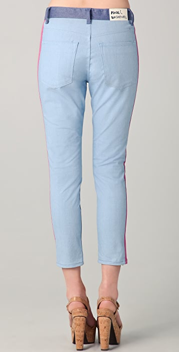 Washborn Colorblock Boyfriend Jeans