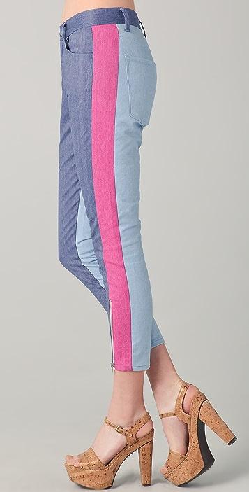 Washborn Colorblock Boyfriend Jeans