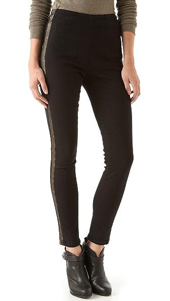 Washborn Racer Stripe Stretch Skinny Jeans