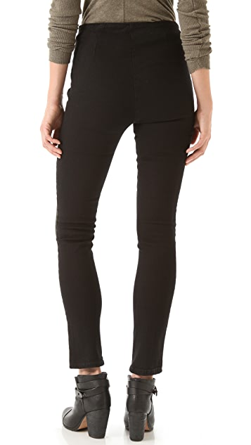 Washborn Racer Stripe Stretch Skinny Jeans