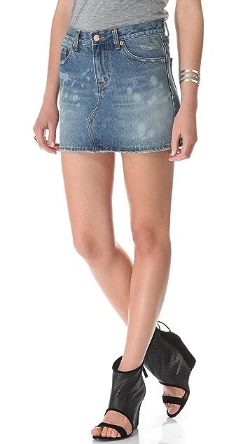 Washborn Denim Skirt