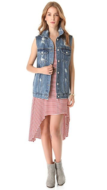 Washborn Oversized Denim Vest
