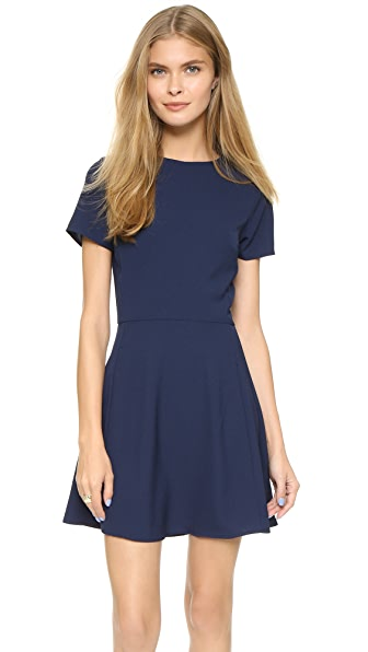 Shop WAYF online and buy Wayf Short Sleeve Dress Midnight dresses online
