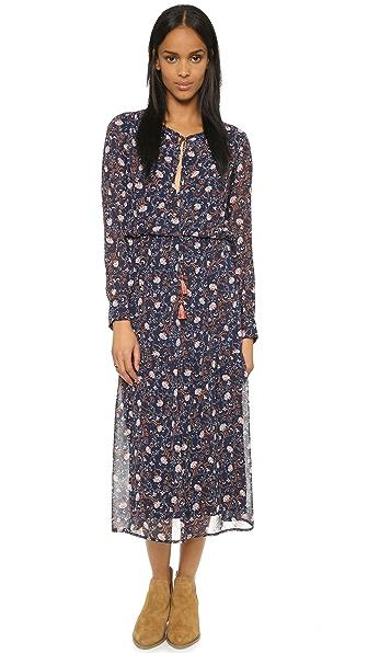 Kupi WAYF online i prodaja Wayf Long Boho Dress Navy Floral haljinu online