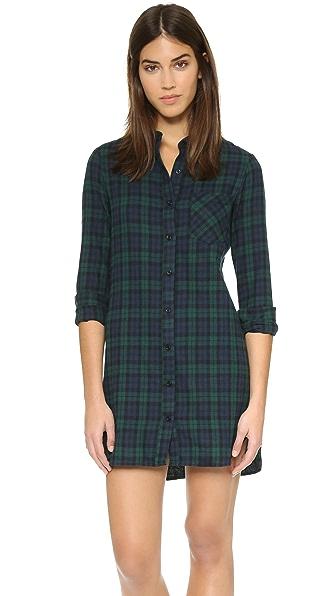 WAYF Flannel Shirt Dress