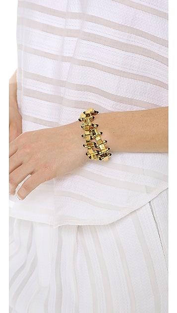 W. BRITT Mini Block Double Wrap Bracelet